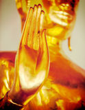 Mano de la estatua de Buddha, Tailandia Fotografía de archivo
