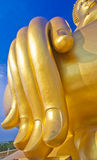 Mano de la estatua grande de Buda Foto de archivo
