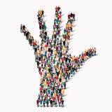 mano de la forma de la gente del grupo imágenes de archivo libres de regalías