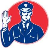 Mano de la parada del policía del oficial de policía Imagenes de archivo