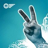 Mano de la paz stock de ilustración