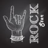 mano de la roca Foto de archivo libre de regalías