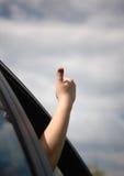 Mano de la ventana del coche Imagen de archivo libre de regalías