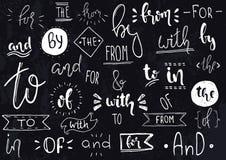 Mano de los lemas del vector dibujada fotografía de archivo