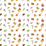 Mano de los niños que dibuja la comida sabrosa ilustración del vector