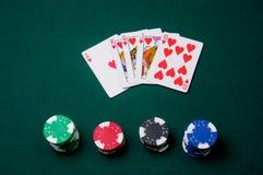Mano de póker Imagen de archivo