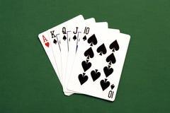 Mano de póker Fotografía de archivo libre de regalías