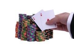 Mano de póker fotos de archivo libres de regalías
