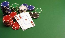Mano de póker Imágenes de archivo libres de regalías