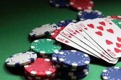 Mano de póker del rubor real foto de archivo libre de regalías