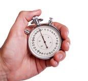 Mano degli uomini con il cronometro Fotografia Stock
