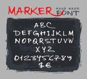 Mano del alfabeto dibujada fuente a mano Ilustración del vector stock de ilustración