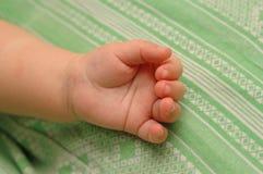 Mano del Babie Fotografia Stock Libera da Diritti