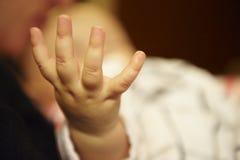 Mano del bebé Imágenes de archivo libres de regalías