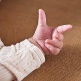 Mano del bebé Fotografía de archivo