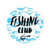 Mano del club de la pesca dibujada Imagen de archivo