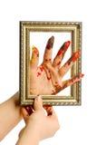 Mano del color del pintor Imagen de archivo libre de regalías