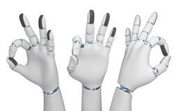 Mano del concepto de la tecnología de la mano del robot para todo someter la muestra ilustración del vector