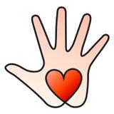 Mano del corazón Foto de archivo libre de regalías