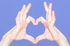 Mano del corazón Fotos de archivo libres de regalías