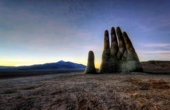 Mano del Desierto, рука пустыни, Чили, рядом с общественным шоссе Стоковое фото RF