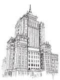 Mano del dibujo de la universidad del ejemplo Foto de archivo libre de regalías