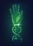 Mano del DNA royalty illustrazione gratis