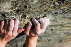 Mano del escalador Foto de archivo