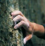 Mano del escalador Imagen de archivo