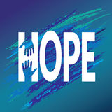 Mano del estímulo de la esperanza Vector de la moraleja de la ayuda libre illustration