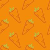 Mano del estilo del niño inconsútil del modelo de las zanahorias dibujada Imagen de archivo