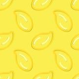Mano del estilo del niño inconsútil del modelo del limón dibujada Imagen de archivo libre de regalías