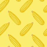Mano del estilo del niño inconsútil del modelo del maíz dibujada Imágenes de archivo libres de regalías