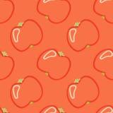 Mano del estilo del niño inconsútil del modelo del tomate dibujada Imagen de archivo