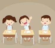 Mano del estudiante para arriba stock de ilustración