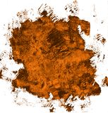 Mano del Grunge dibujada con un cepillo Movimiento curvado del cepillo color cerúleo ilustración del vector