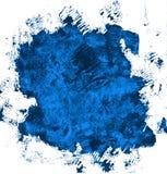 Mano del Grunge dibujada con un cepillo Movimiento curvado del cepillo color cerúleo libre illustration