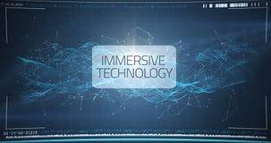 Mano del hombre de negocios usando la pantalla del interfaz digital ilustración del vector