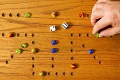 Mano del juego de mesa de los mármoles Imagenes de archivo