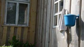Mano del lavaggio della donna del giardiniere video d archivio