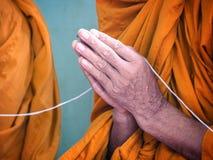 Mano del monje Fotografía de archivo libre de regalías