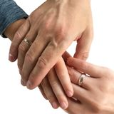 Mano del niño en el ` s de la madre y las manos del ` s del padre Familia, dulzura I fotografía de archivo libre de regalías