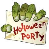 Mano del partido de Víspera de Todos los Santos (3) del zombi. Foto de archivo libre de regalías