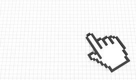 Mano del pixel su una cella royalty illustrazione gratis