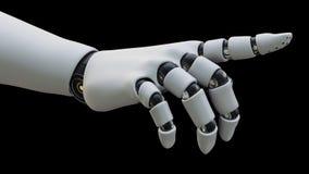 Mano del robot que señala el dedo índice, aislado libre illustration