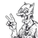 Mano del superhéroe dibujada Stock de ilustración
