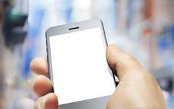 Mano del telefono cellulare di affari immagine stock libera da diritti