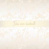 Mano del vector dibujada casandose diseño de la invitación en el st floral clásico Imagen de archivo libre de regalías