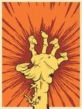 Mano del zombi con cólera Foto de archivo libre de regalías