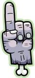 Mano del zombi de la historieta Imagen de archivo libre de regalías